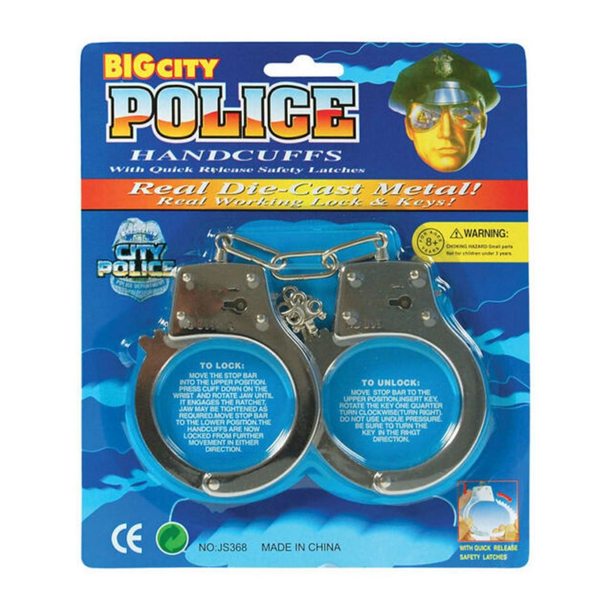 Kids Toy Metal Handcuffs Hand Cuffs Police