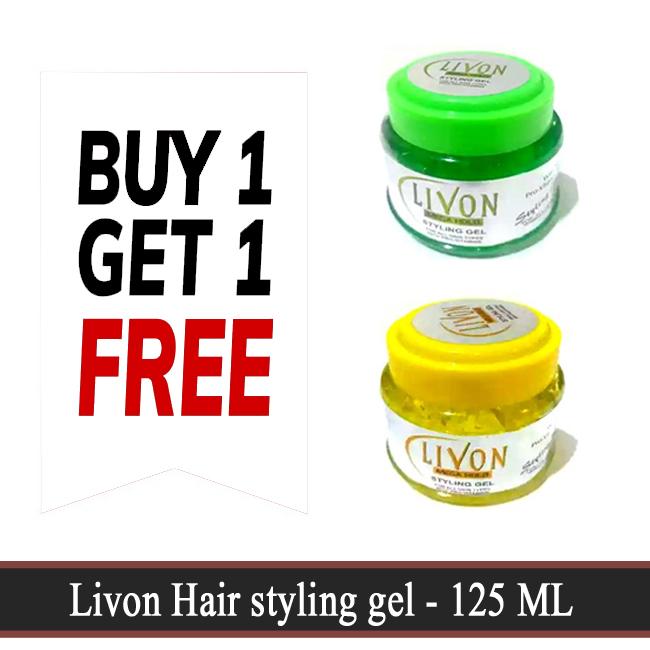 Buy 1 Get 1 Free - Livon Hair styling gel - 125 ML