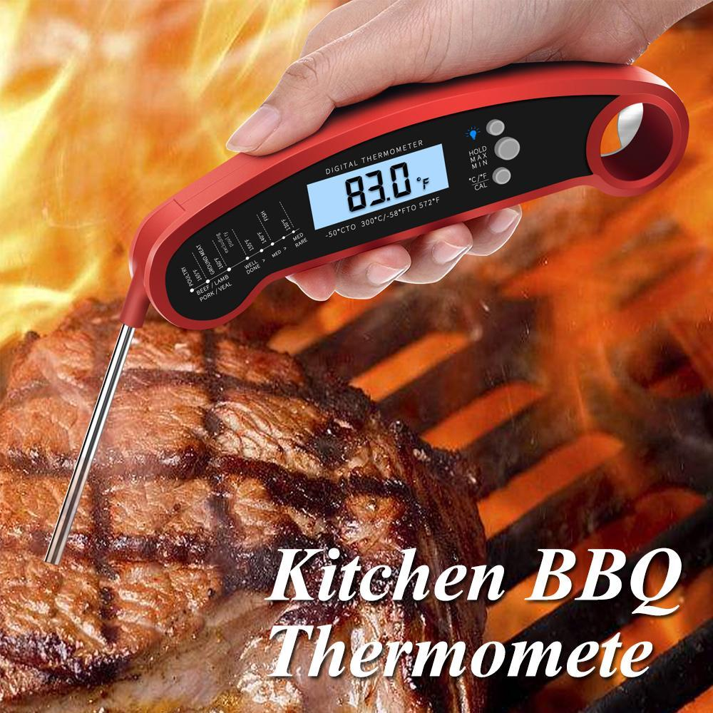 Digital Food Meat Thermometer BBQ Probe Temperature Tools For Kitchen Cooking