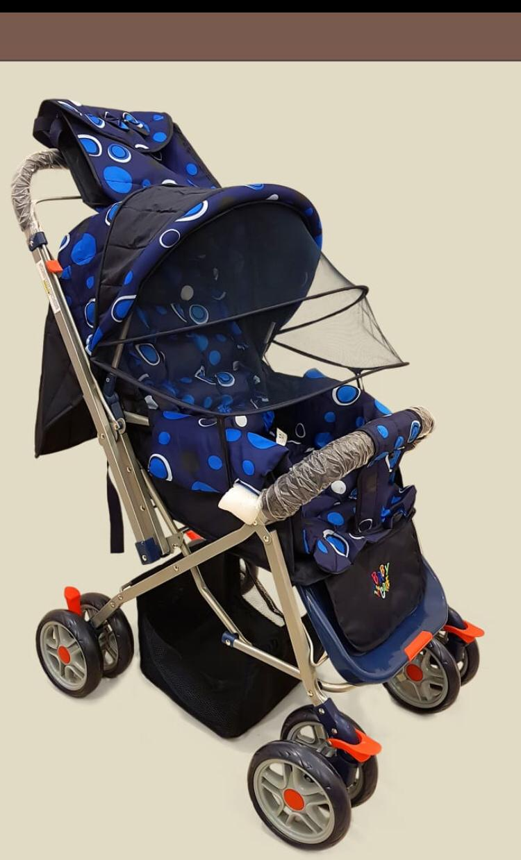 IMPORTED PRAM 8 WHEELS FOLDABLE AND SEAT ADJUSTABLE