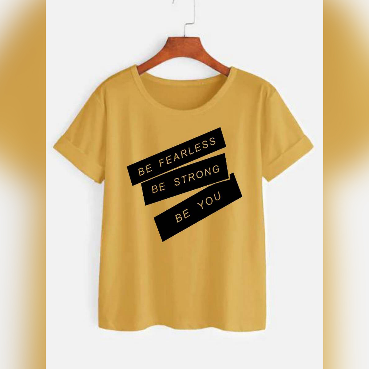 Motivational Tagline Printed Casual Summer Wear Printed Half sleeve round neck T shirt for Men/Boys