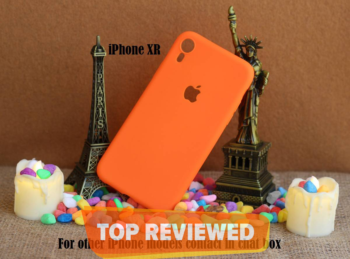 IPhone XR Matte Solid Color Soft Silicon Mobile Case ( Pouch )