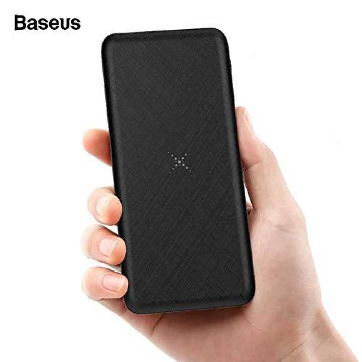Original Baseus M36 Wireless Charger 5w Large Coil & 10000mAh Power Bank Dual USB Output Portable Quick Charger