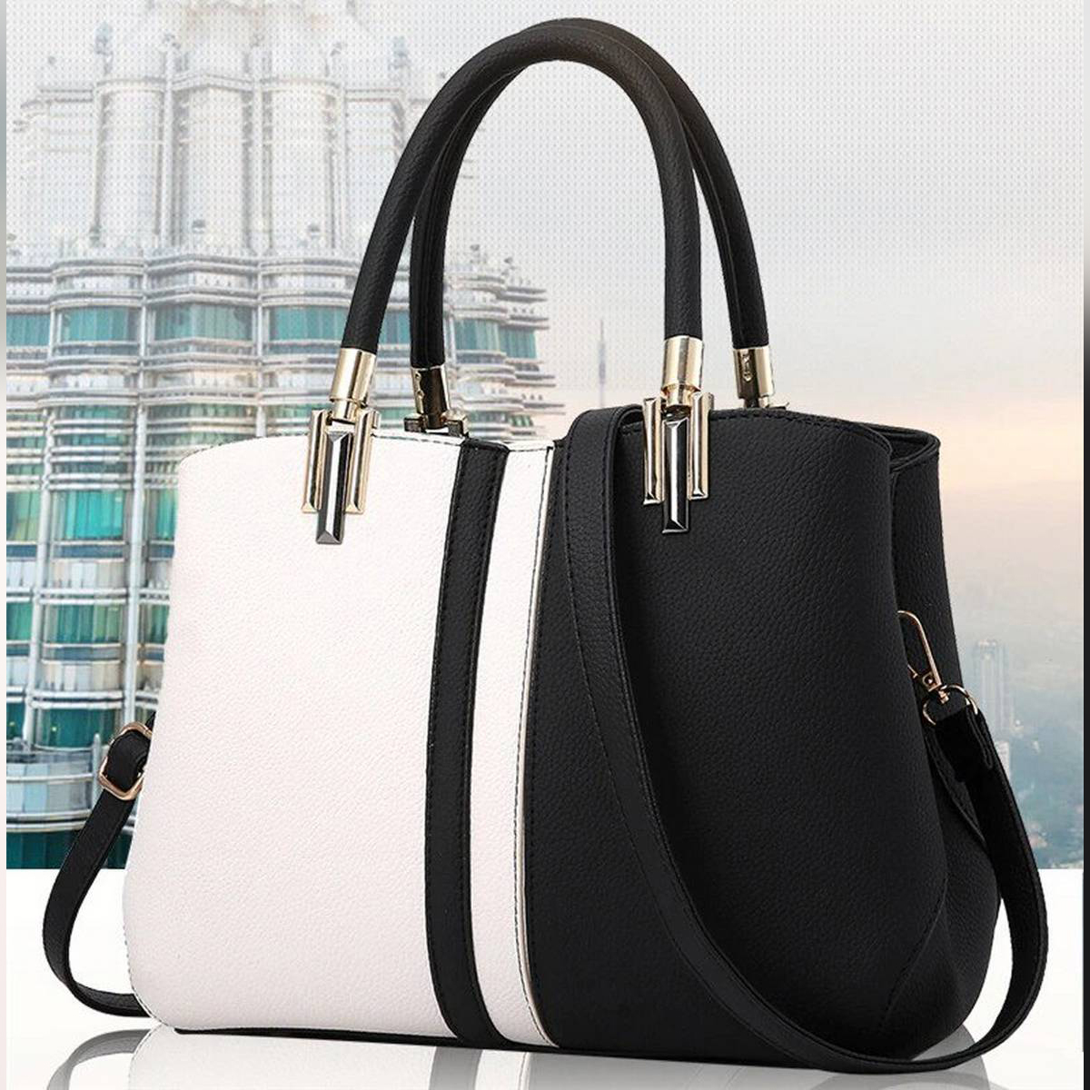 PU Faux Leather Tote Shoulder Bag For Women Handbags Ladies Hand Bags for Girls Party Bags