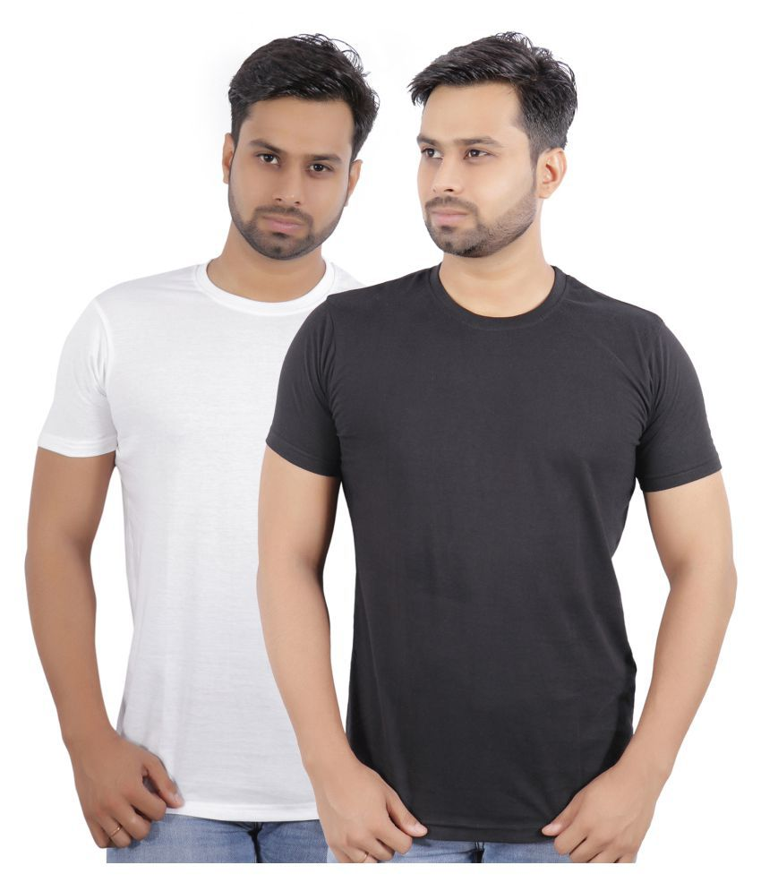 Pack Of 2 Cotton Multi Solids T Shirt