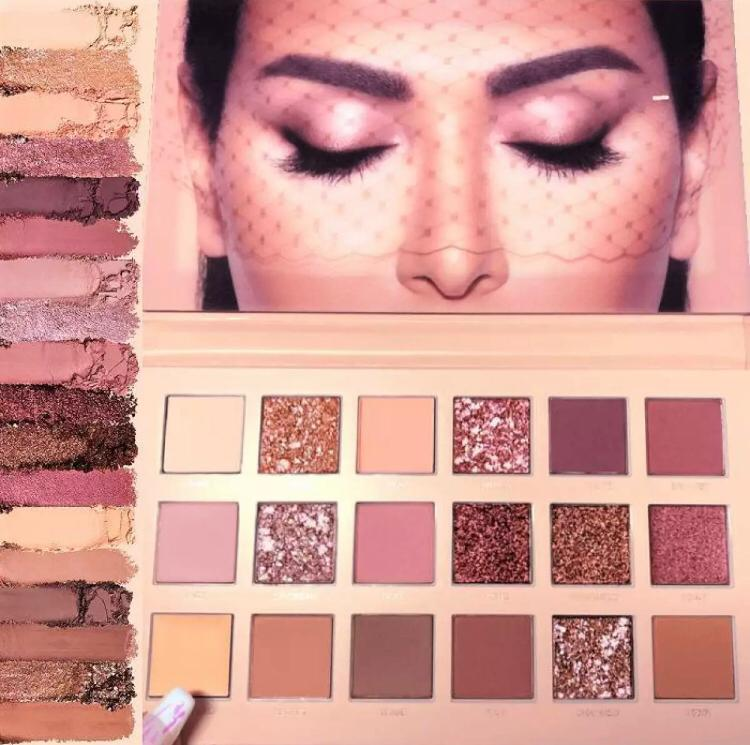 18 Colors Pigmented Nude Eyeshadow Palette Blendable Long Lasting Eye Shadow Palettes