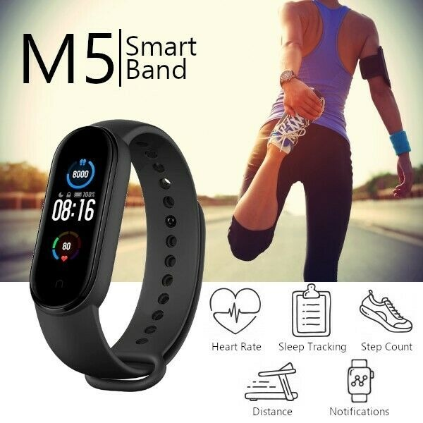 M5 Smart Fitness Band Exercise Smart Watch