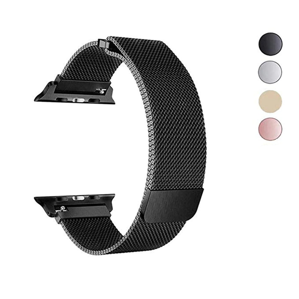 38mm/40mm Stainless Steel Milanese Loop Apple Watch Band with Magnetic Closure for iWatch 40mm, Apple Smart Watch Sport Watch Bracelet Strap Replacement Wristband Compatible with Series 1/2/3/4/5 Smartwatch - Multicolor Options