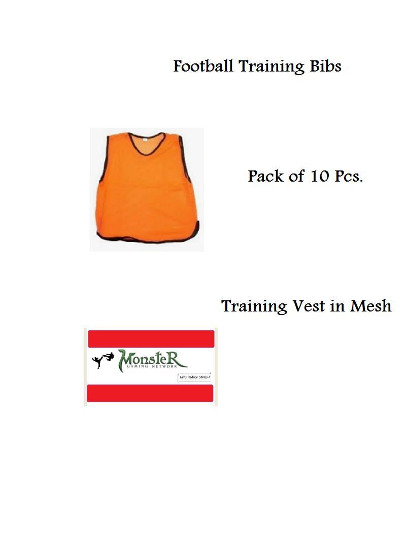 10 Pcs.Football Bibs Vest In Mesh Training Vest  vest football hockey vest
