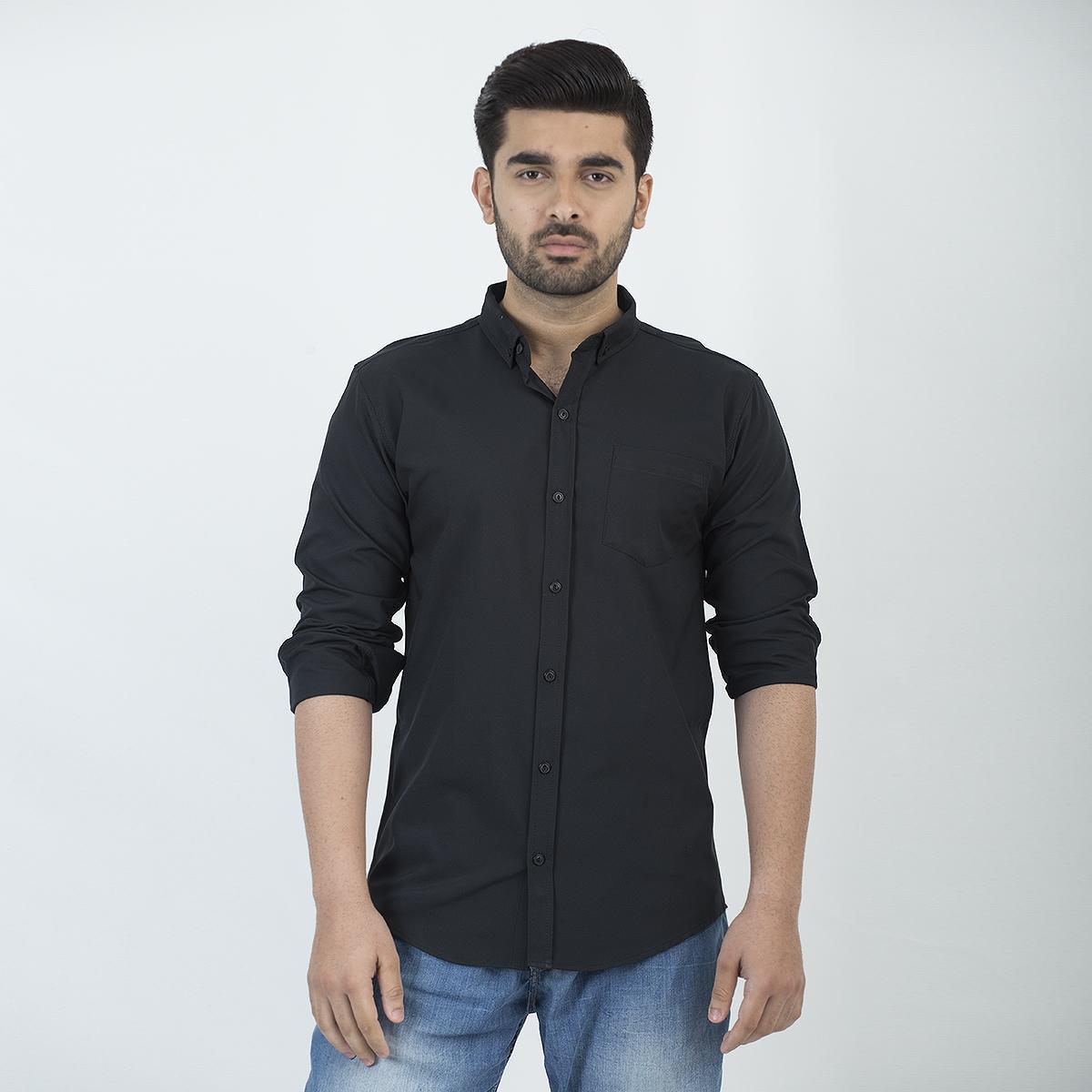 b921d8e19e05 WOLF Casual Slim Fit Cotton Long Sleeve Shirt For Men Fashion - 81