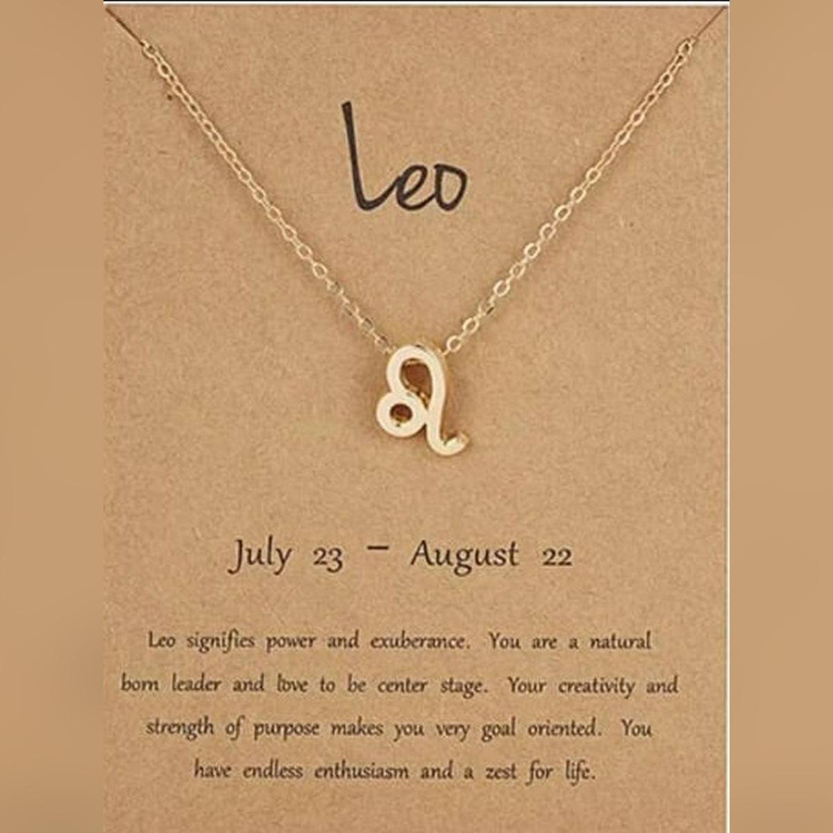 Leo Female Elegant Star Zodiac Sign 12 Constellation Necklaces  Pendant Charm Gold Chain Choker Necklaces for Women Jewelry Cardboard