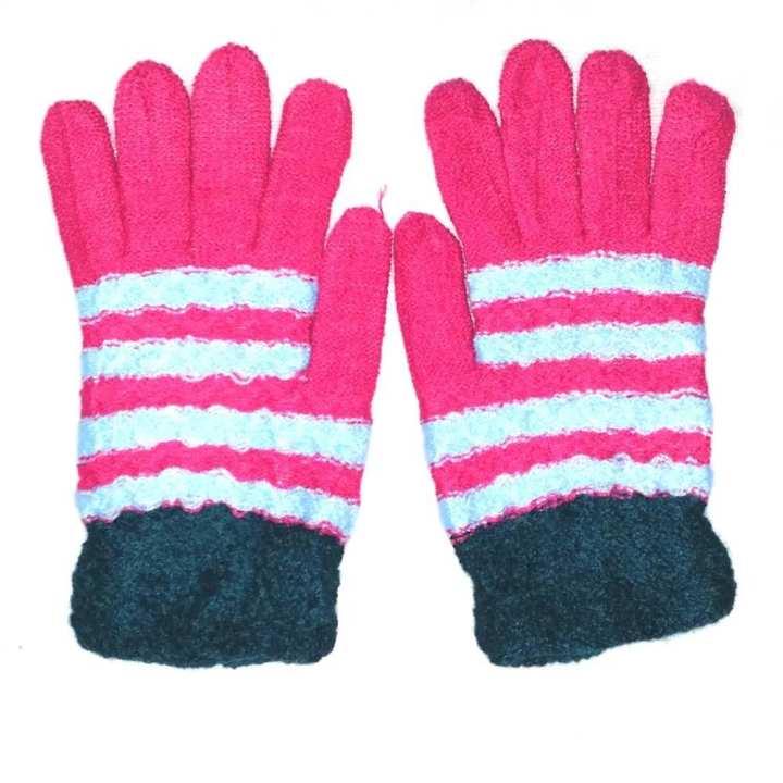 Hi Charlie Lamb Wool Gloves for Women-Multicolor