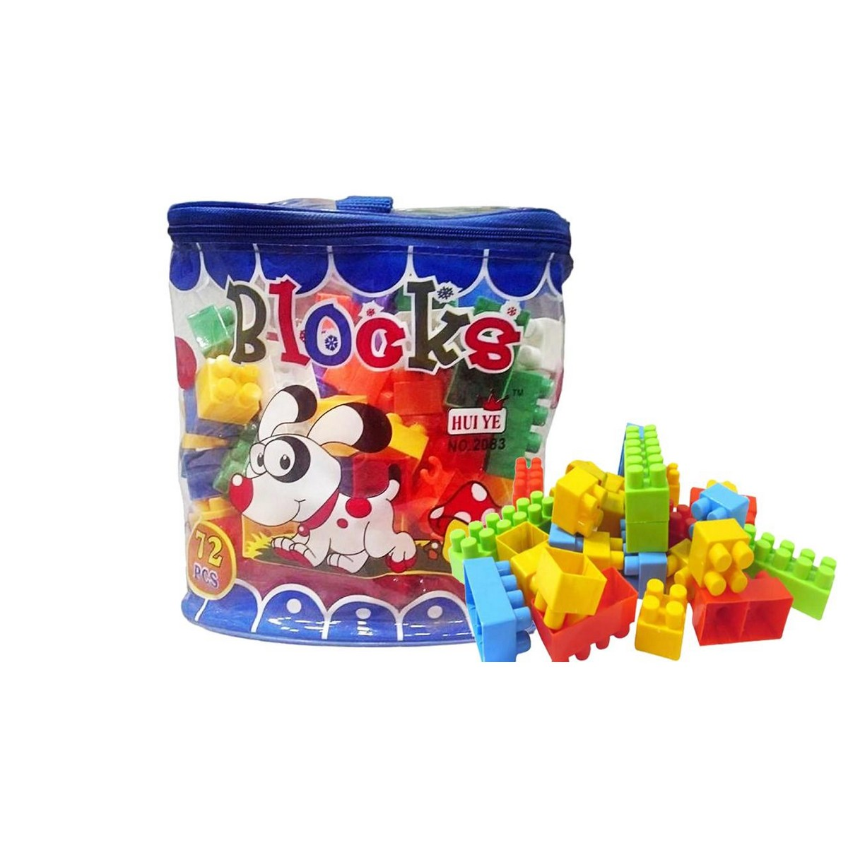Building Blocks Set 72 Pcs Big Size High Quality Imported  For Kids Early Learning & Creative Model Playing
