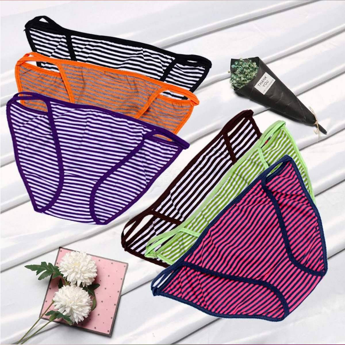 Pack Of 4 - Low Waist Cotton Panties For Women-369