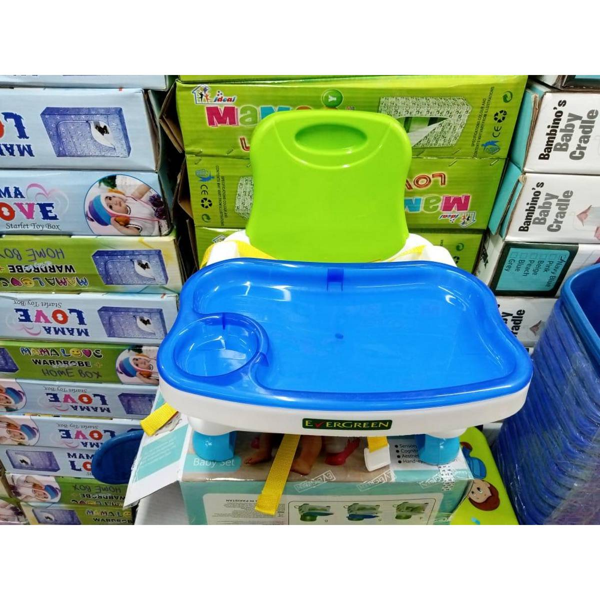 baby dining chair - Booster Seat High Chair With Removable Foldable Toy Tray 3 Point Safety Harness