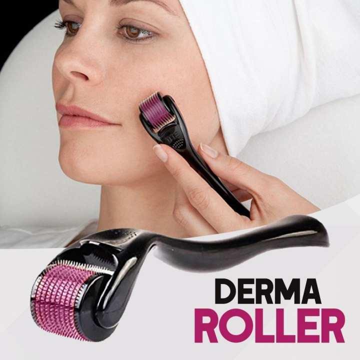 Derma Roller - 0.5MM For Wrinkles, Acne Scar Removal, Hyperpigmentation, Boosts Collagen & Evens out Skin Tone