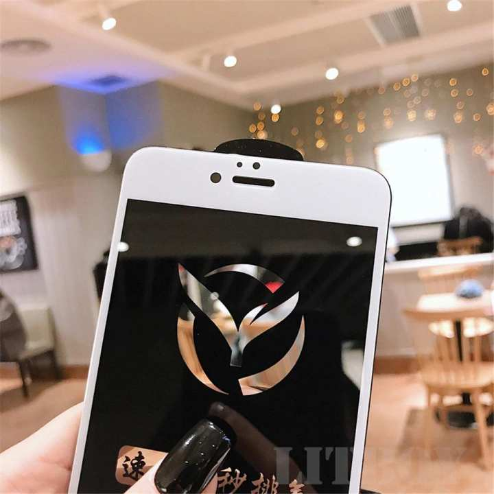 9D Full Glue Tempered Glass for Apple Iphone 7 Plus_Full Edge to Edge Coverage_100% Touch Responsive_Shatter Proof_White