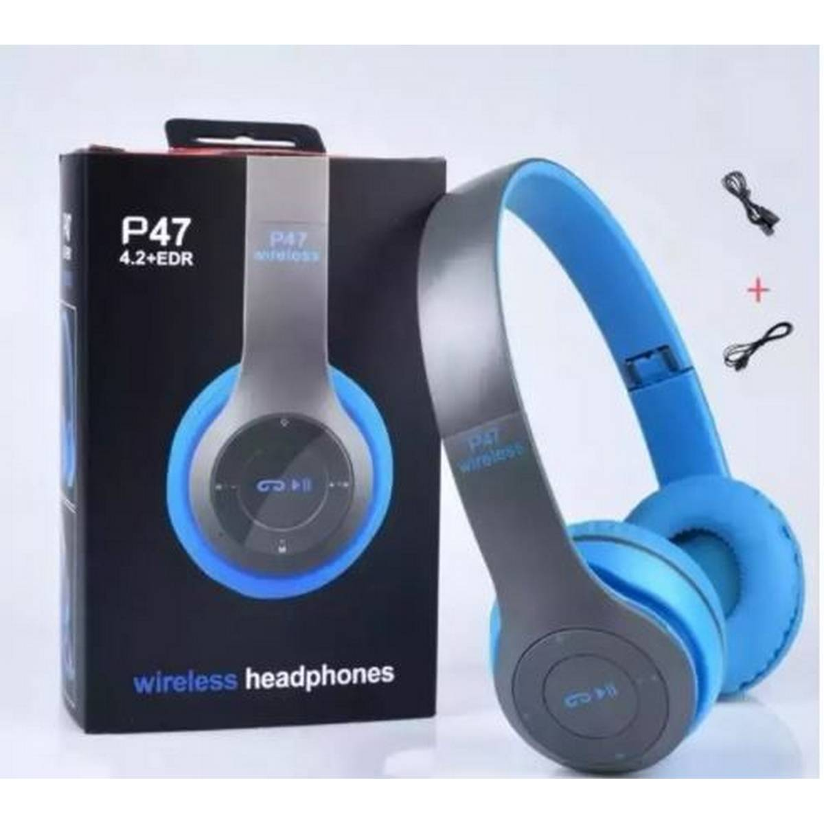 P47 Wireless Bluetooth Foldable Headset With Microphone FOR All cell phones and laptop lcd tv used