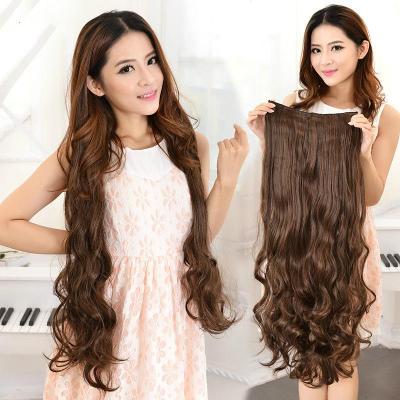 Hair Extension Natural Brown 32 Inch - Curly