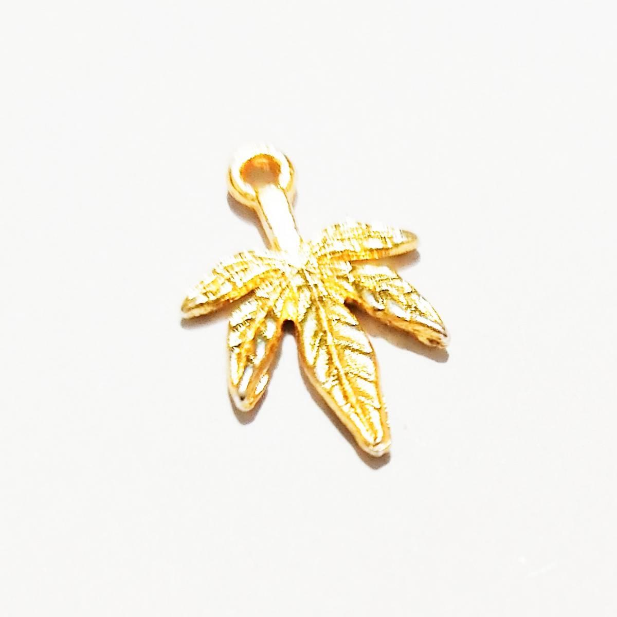 5pcs Golden Color Zinc Alloy Mini Tree Leaf Charms Fit DIY Jewelry Pendant Charms Making