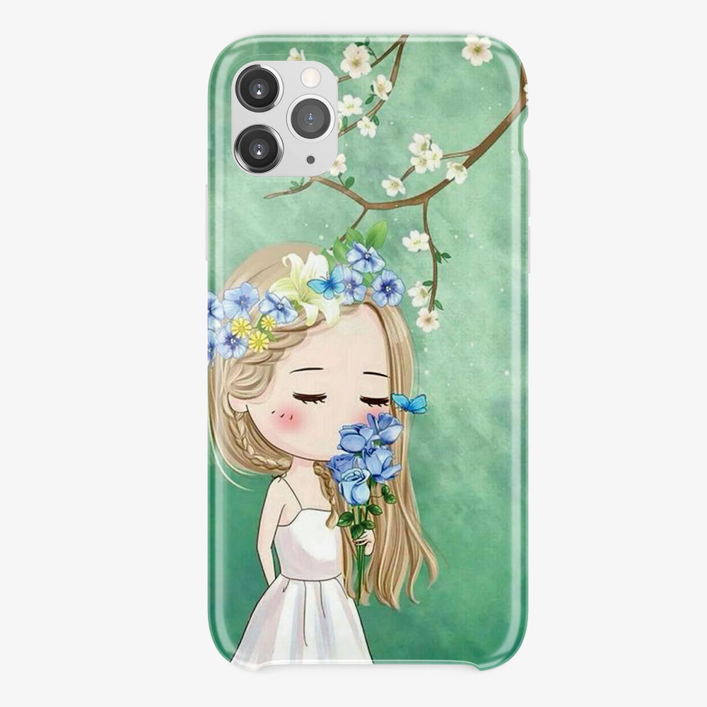 Girls Floral Design, Printed Silicon Mobile Covers, All Models Are Available,