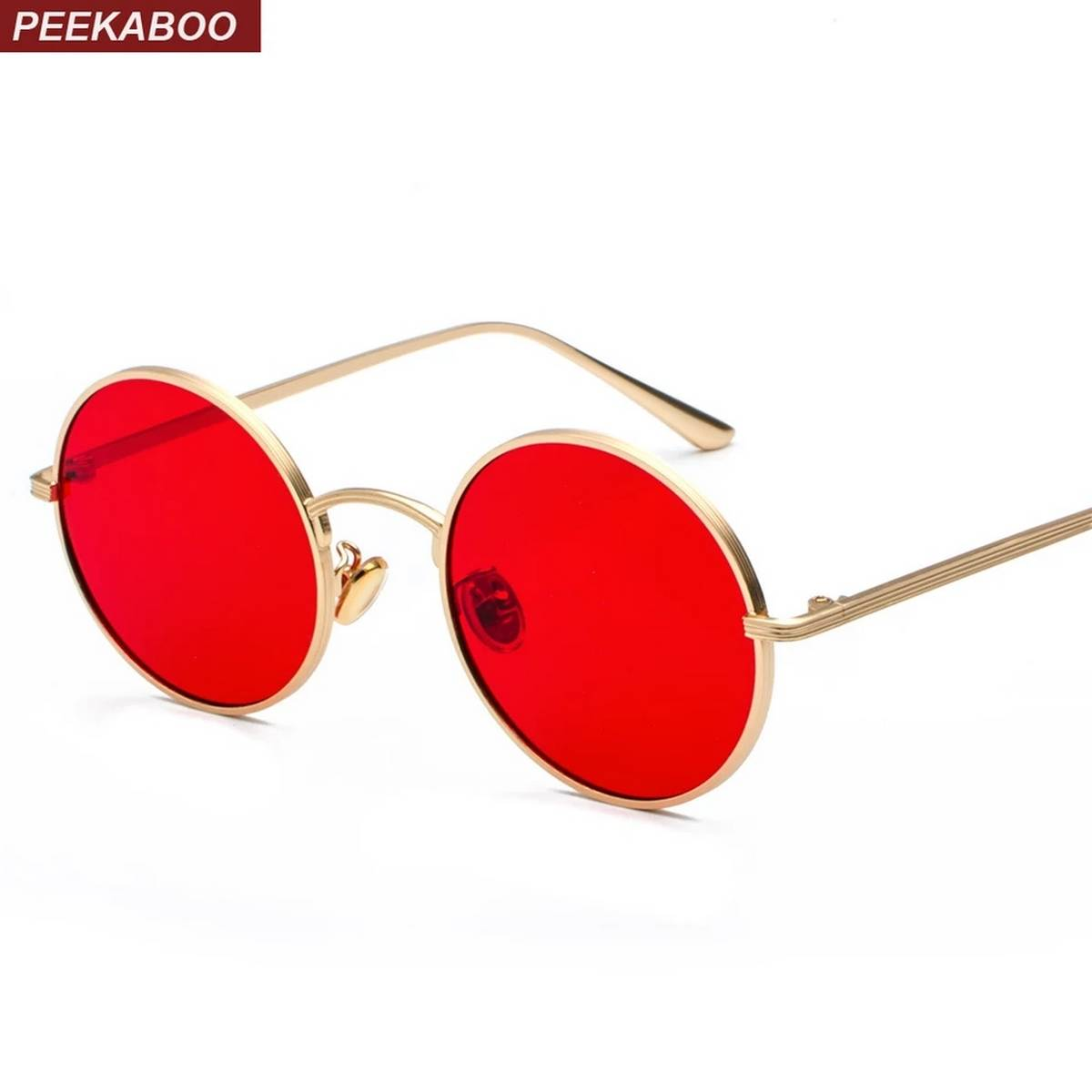 Sunglasses Yellow Round Glass Polarized Lens Vintage Eyewear Accessories Sun Glasses For Men