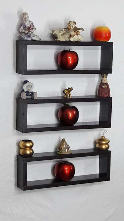 3 Pieces Wall Decor For Living Room: 3 PIECES WALL HANGING LONG BOXES SHELF MAROON: Buy Online