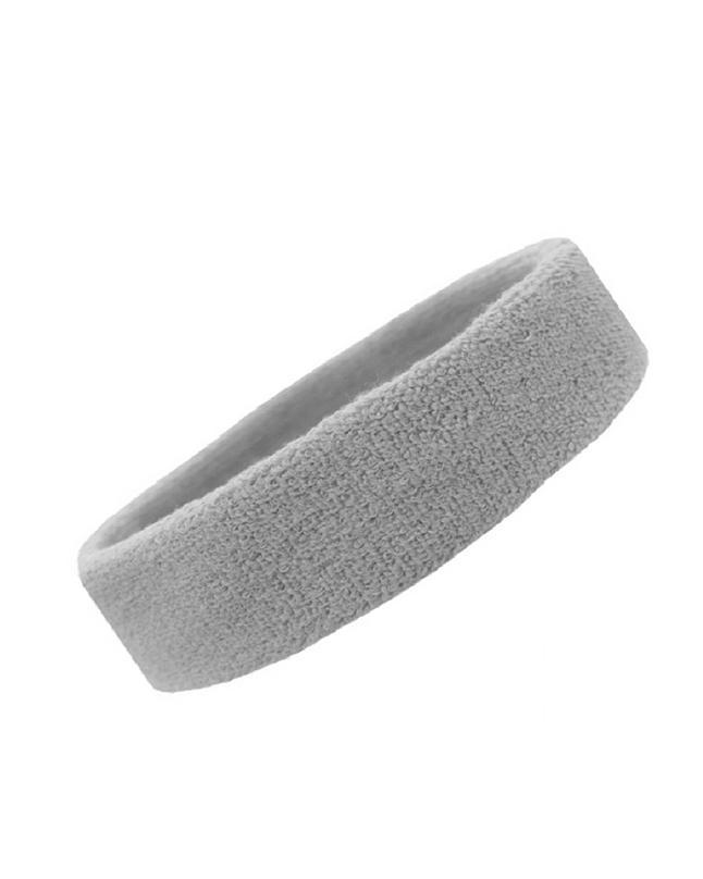 Headbands Tennis Running Unisex Athletic Basketball Head Gear Gray