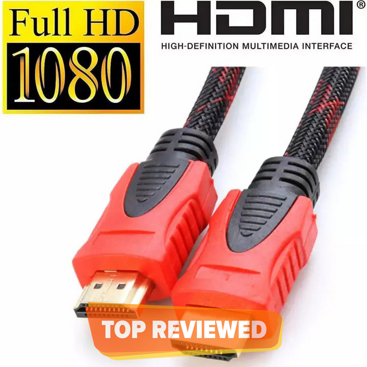 HDMI Cable Round 1.5 Meter And Available in 3 Meter 5 Meter 10 Meter 15 Meter 20 Meter 25 Meter 30 Meter Clear Crystal Display