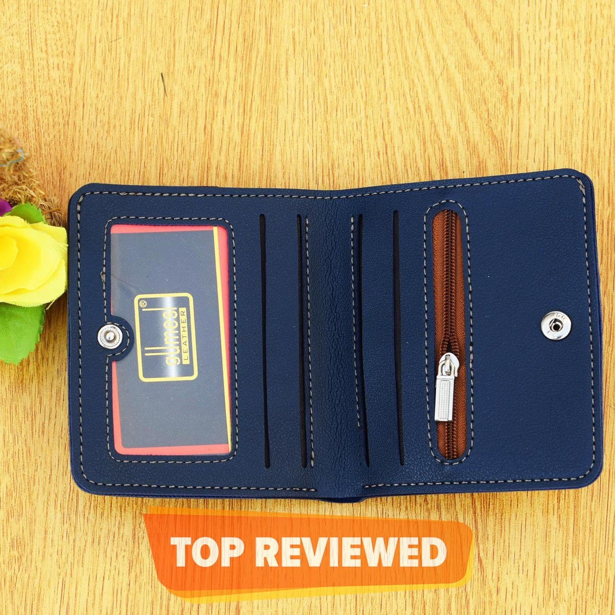 Small Stylish Handy Wallet with Coin Pocket for Unisex