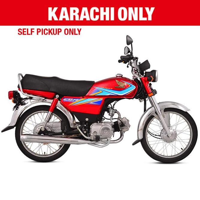 Honda - CD 70 - (Red Colour) For Karachi only