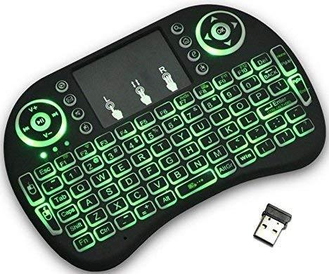 Newest i8 + Mini Wireless Touch Keyboard Handheld Remote, Touchpad Mouse  Combo, 3 Color LED Backlit Remote Control for Android TV Box, PS3 Xbox,