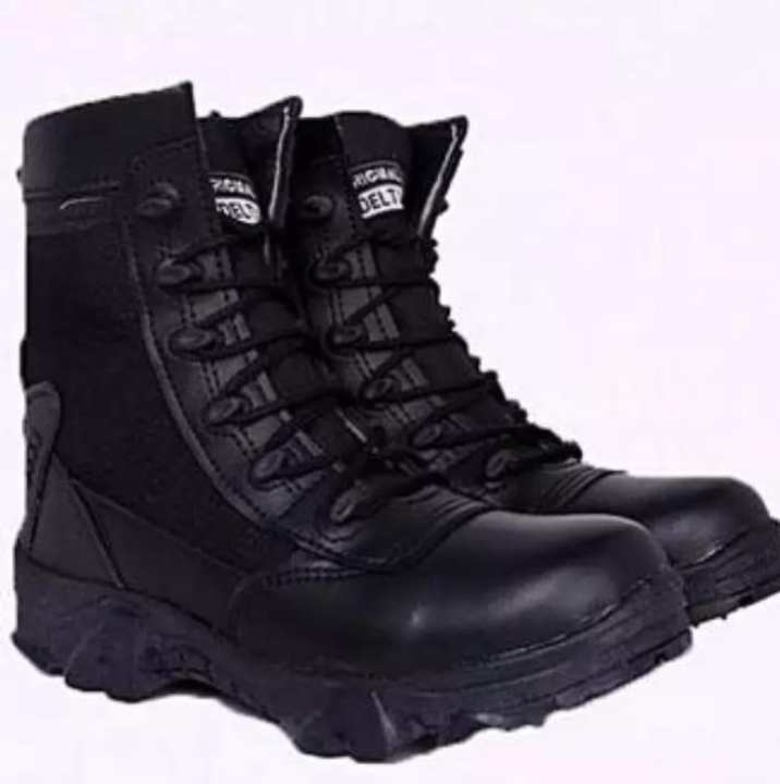 Delta Black Leather Boots
