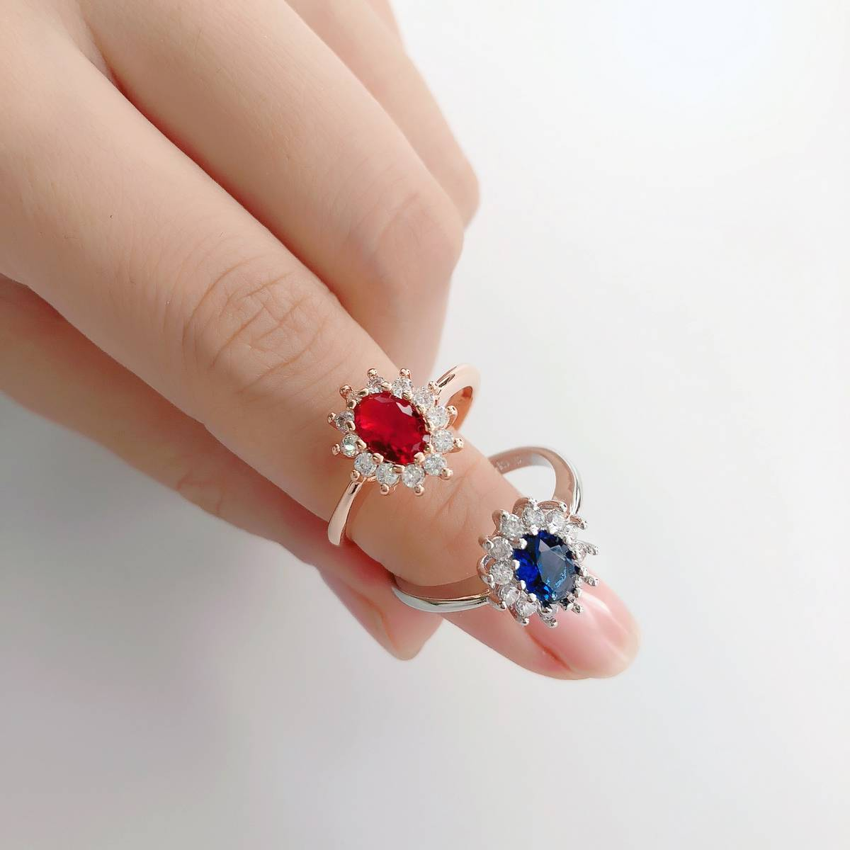AAA CZ Zircon Stone Gold Plated Engagement & Wedding Ring for Girls