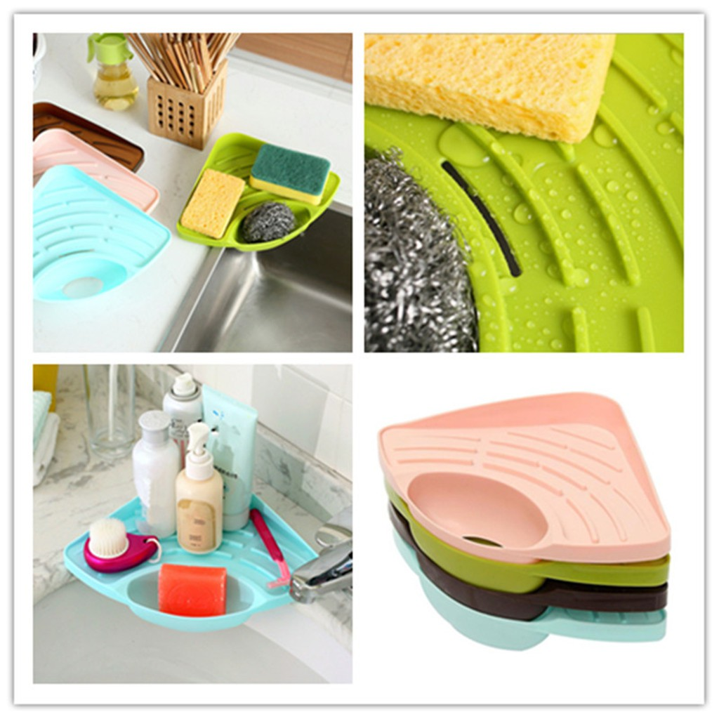 Kitchen Sink Corner Tool With Tray Storage Organizer Rack For Soap Dish Wash Basin Buy Online At Best Prices In Pakistan Daraz Pk