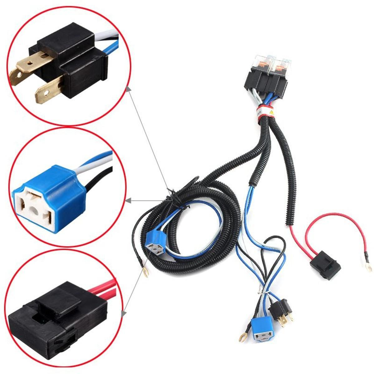 Wiring Harnesses - Buy Wiring Harnesses at Best Price in stan ... on chevy 2 headlight relay harness, h4 vs 9003 wiring, h4 headlight socket wiring diagram, automotive wiring harness, h4 headlight wiring details, h4 wiring with diode, h4 plug wiring ground, electrical harness, h4 headlight connector 12 gauge, heavy duty headlight harness,
