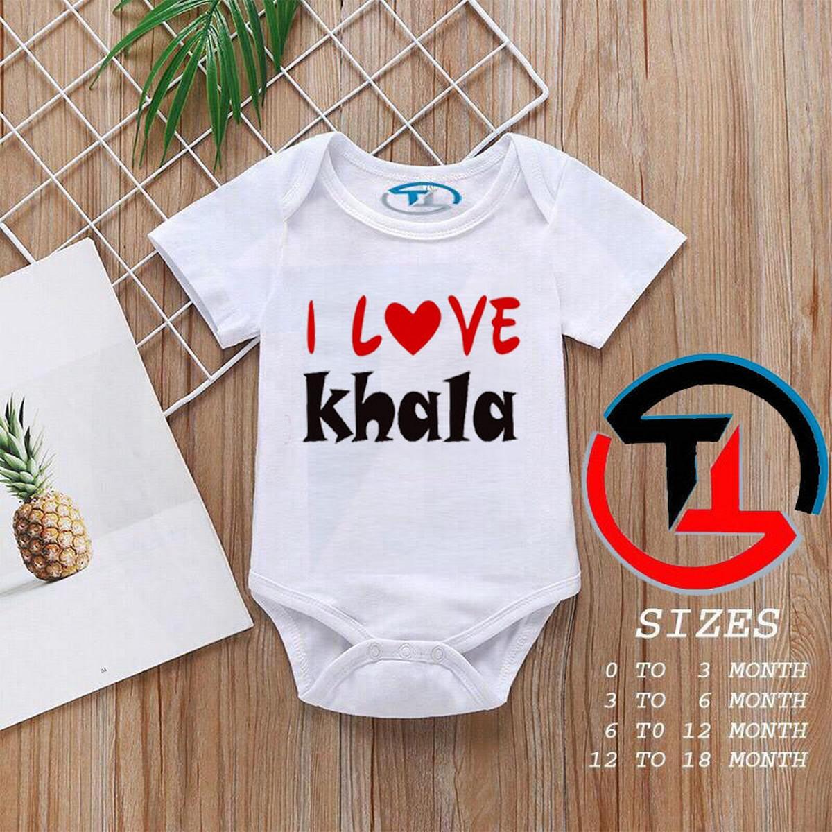 Baby Girls and Boys Half Sleeves Cotton Body suits Summer Wear, Romper Infants Onesies (LOVE KHALA)