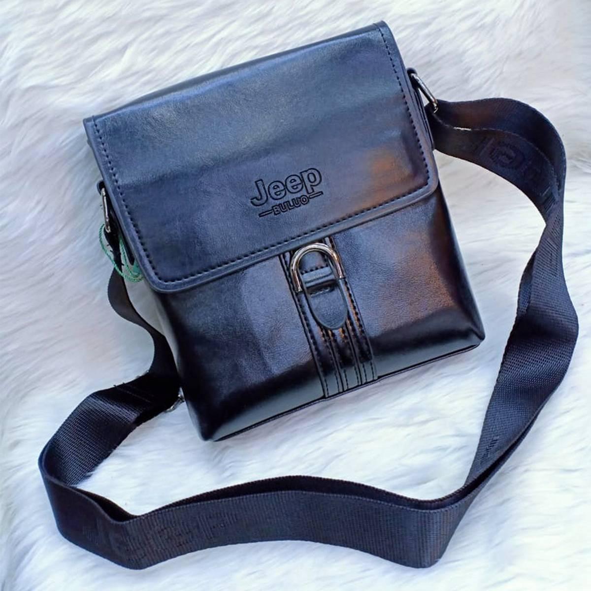 Men Shoulder Messenger Bags PU Leather Cross body bag
