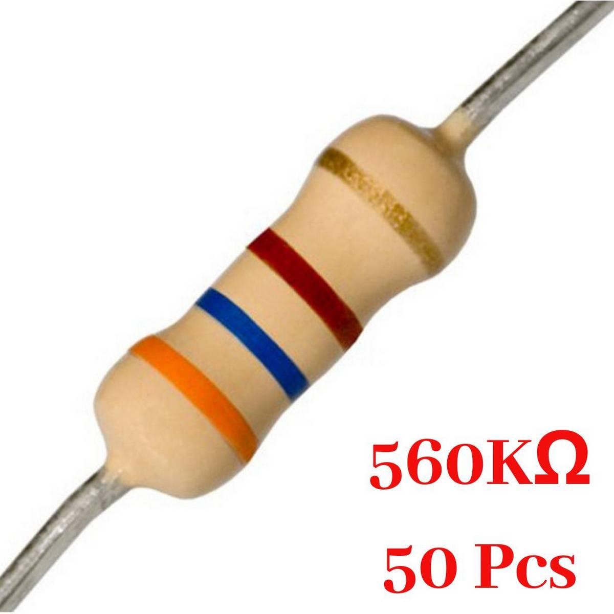 50 Pcs- 560K Ohm resistor