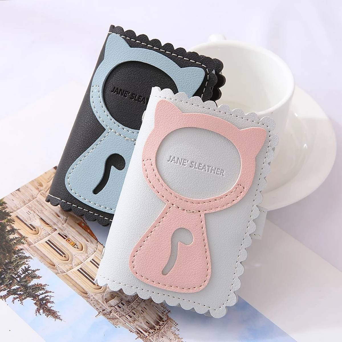 New short mini fashion wallet for girls and womens card holder coin purse.