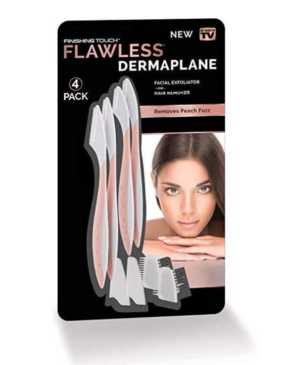 Finishing Touch Flawless DermaPlane Facial Exfoliate and Hair Remover, Set of 4