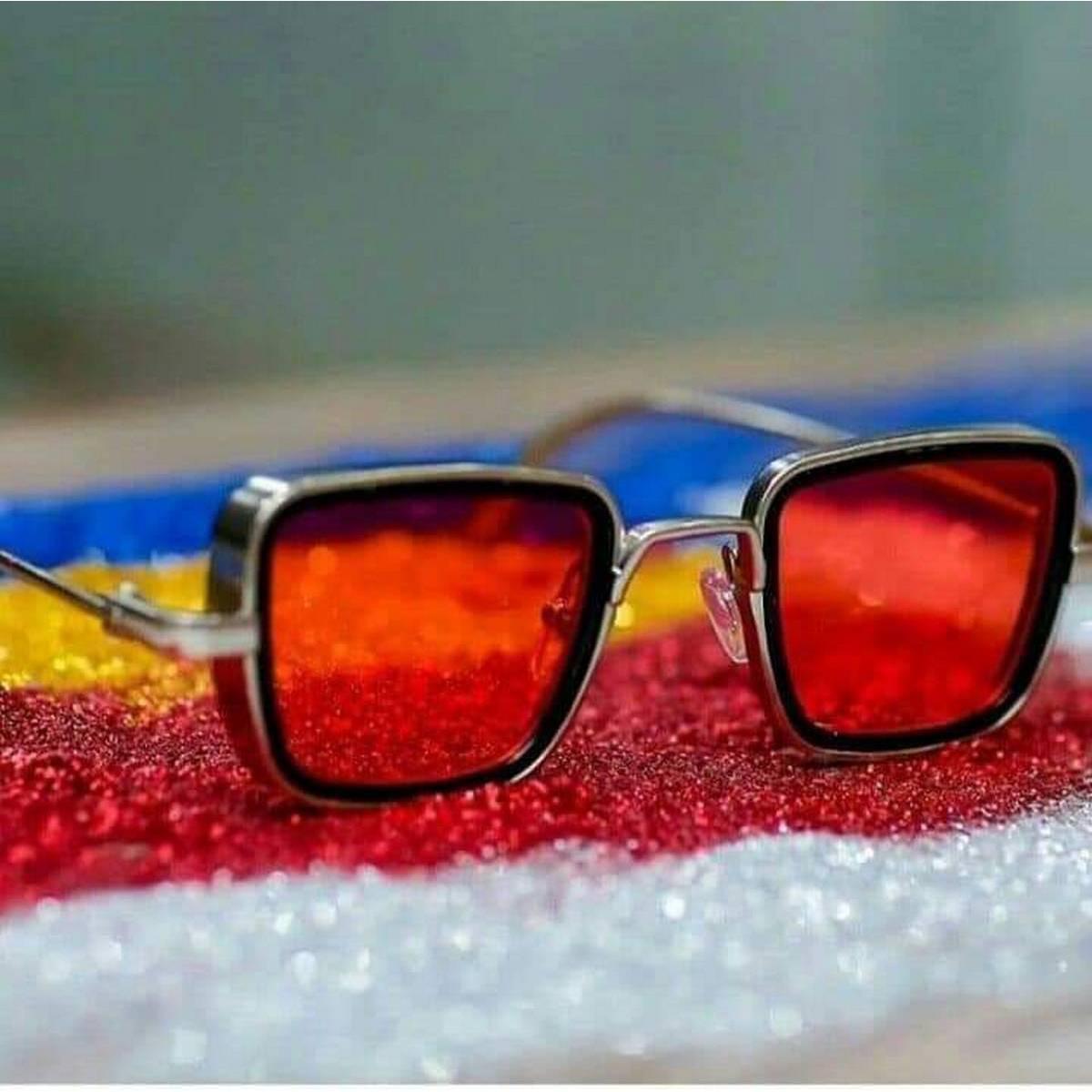 Kabir Singh India Movie Sunglasses Men Square Retro Cool Sun Shades Steampunk Style Sun Glasses for Men Green Golden
