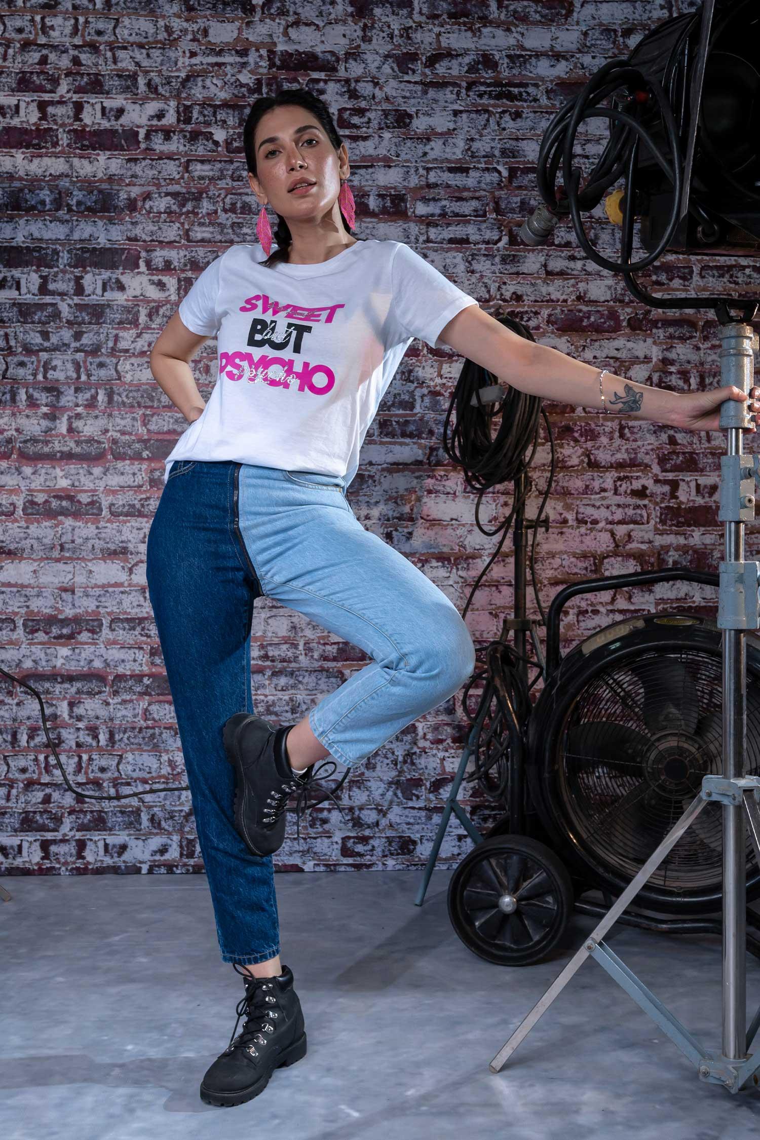 HustleNHolla - Two-Face Straight Leg Jeans