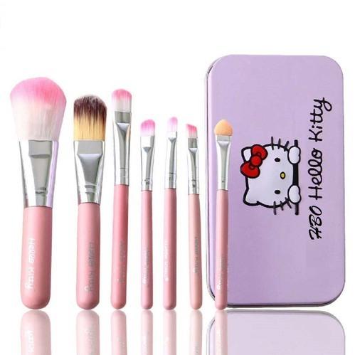 O Kitty Pink Black Makeup Brushes