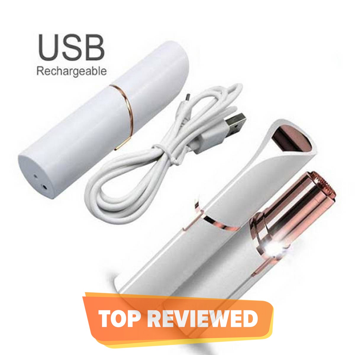 Orignal Flawless Laser Facial Hair Remover For Women Painless Hair Remover For Gentle And Smooth Skin For All Body Parts Ladies Shaver Machine With Heavy Duty battery Rechargeable  With USB Cable Imported