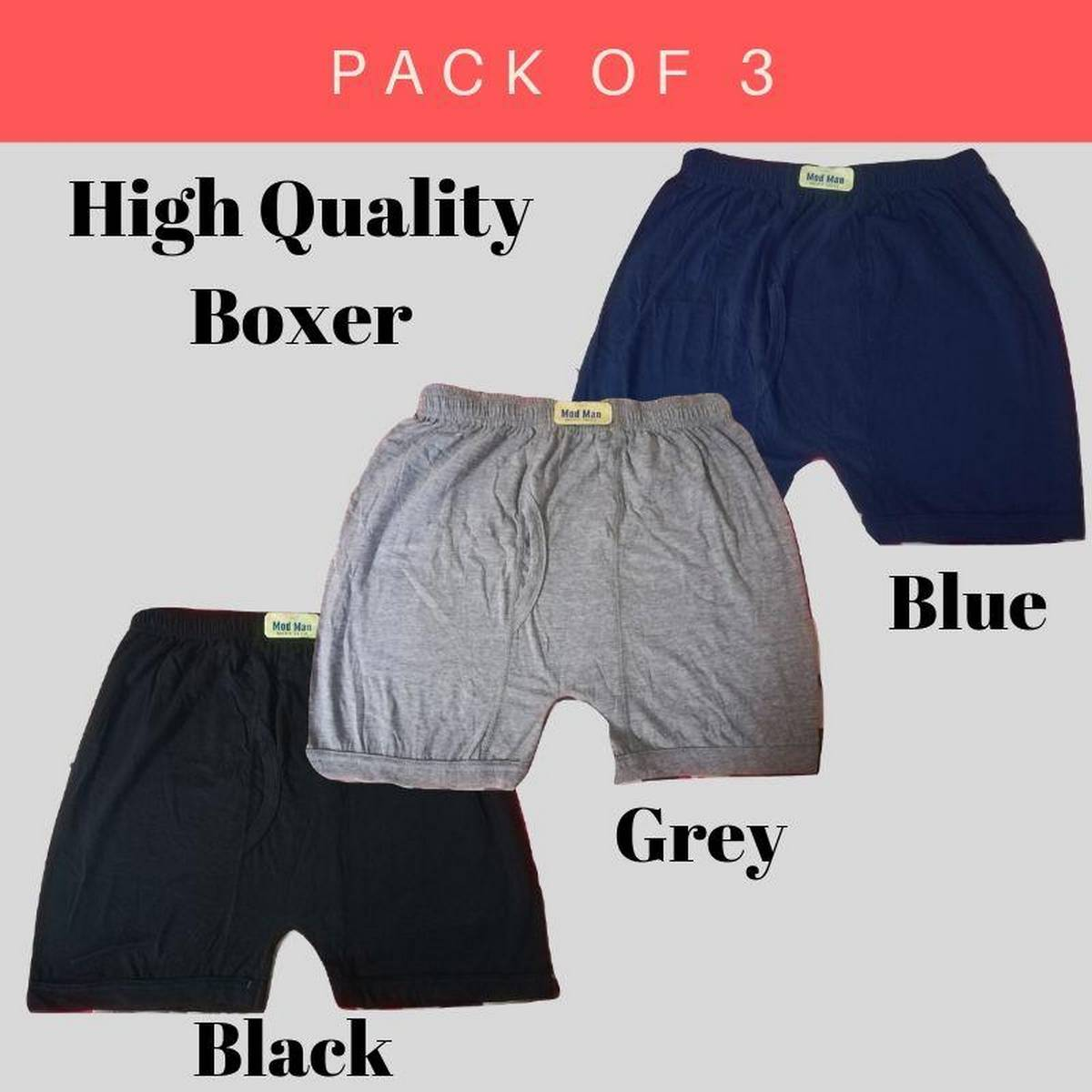 Multi Color Boxers/Trunks for Men - Pack of 3