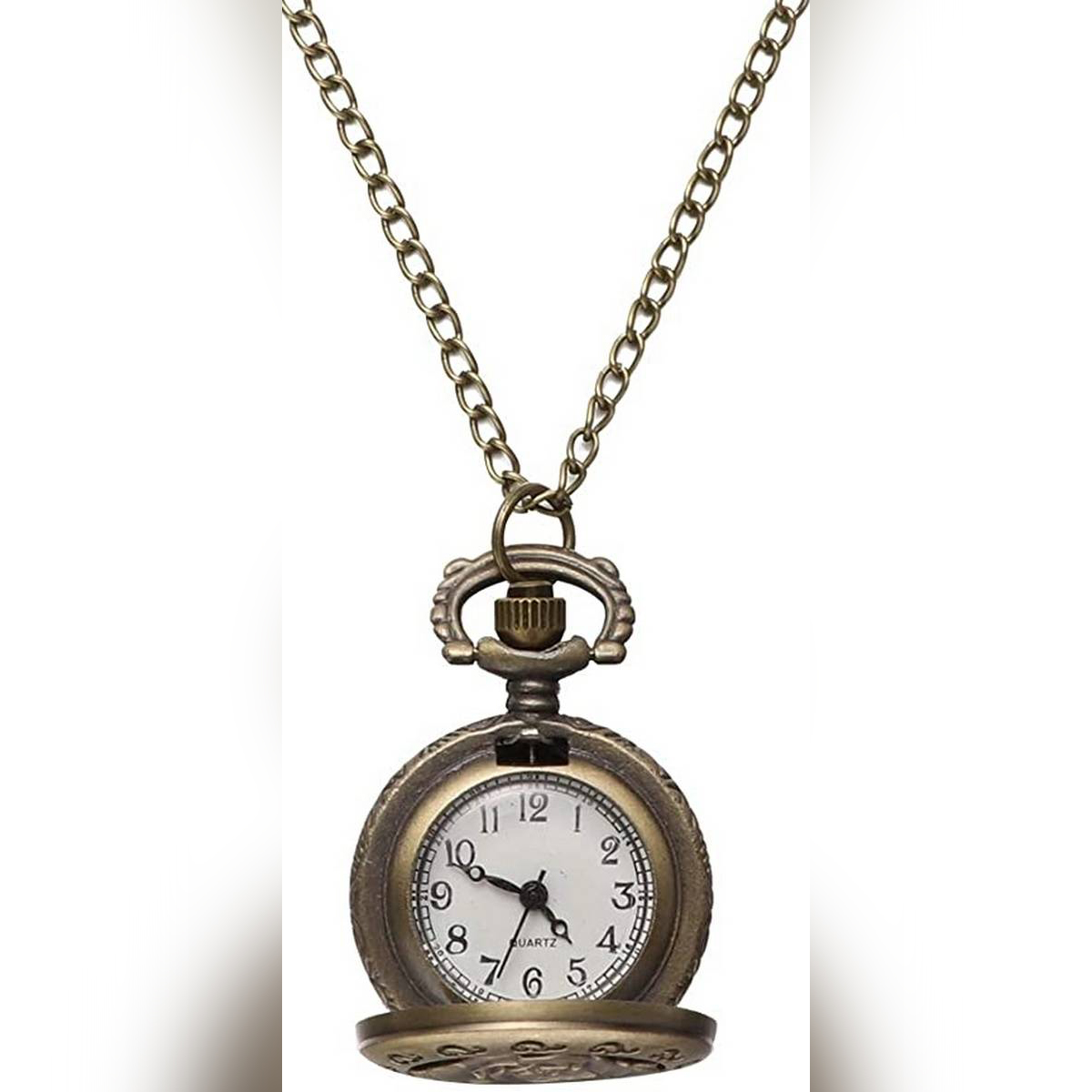 New Dual Display Clamshell Rome Retro Hollow Imitation Mechanical Unisex Men Women Pocket Watch Gift