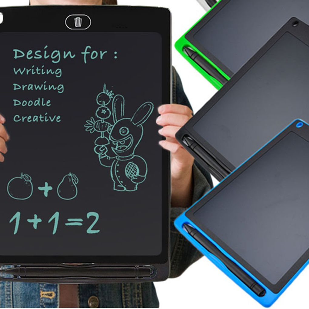 Original LCD Writing Portable Doodle Drawing Tablet Pad Durable Electronic Slate E-writer Digital Memo Pad Erasable Writing Board Learning toys and gadgets For Kids