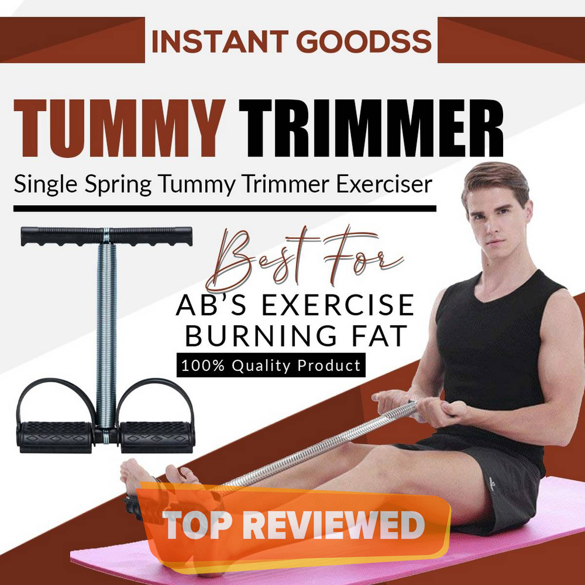 Tummy trimmer high quality in single spring and double spring for home gym