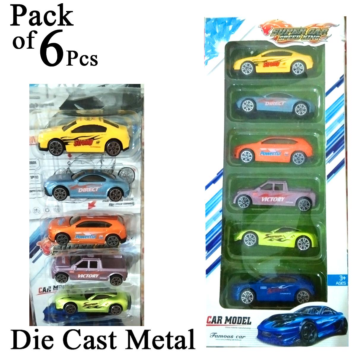 Pack of 6 Pcs Die Cast Metal Car Set Toys Kids and Boys Diecast